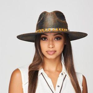 Accessories - Flat Brim Rancher Hat in Brown Vintage